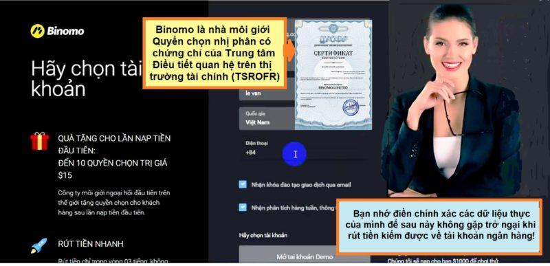 Giới thiệu đăng ký Binomo